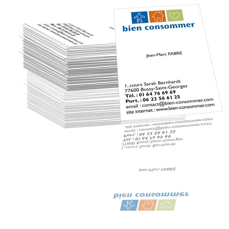 Pack Carte De Visite Logo Societe Bien Comsommer